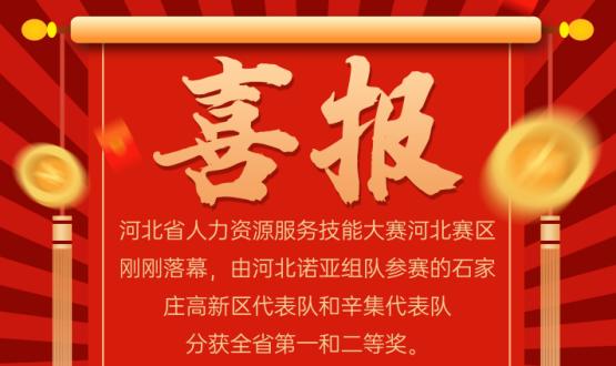 喜报!河北省人力资源服务大赛,诺亚两支代表队获一、二等奖!